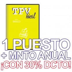 TPVFÁCIL Básico+MNTO, 1 puesto