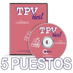 TPVFÁCIL COMERCIO, 5 puestos