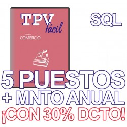 TPVFÁCIL COMERCIO+MNTO SQL,...