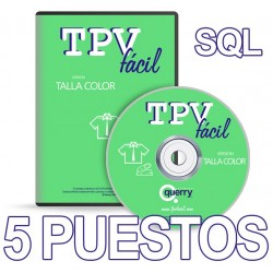 TPVFÁCIL Talla Color SQL, 5...