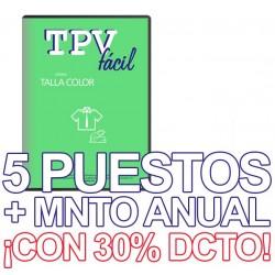 TPVFÁCIL Talla Color+MNTO,...
