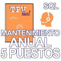 Mnto TPVFÁCIL ESTÉTICA SQL,...